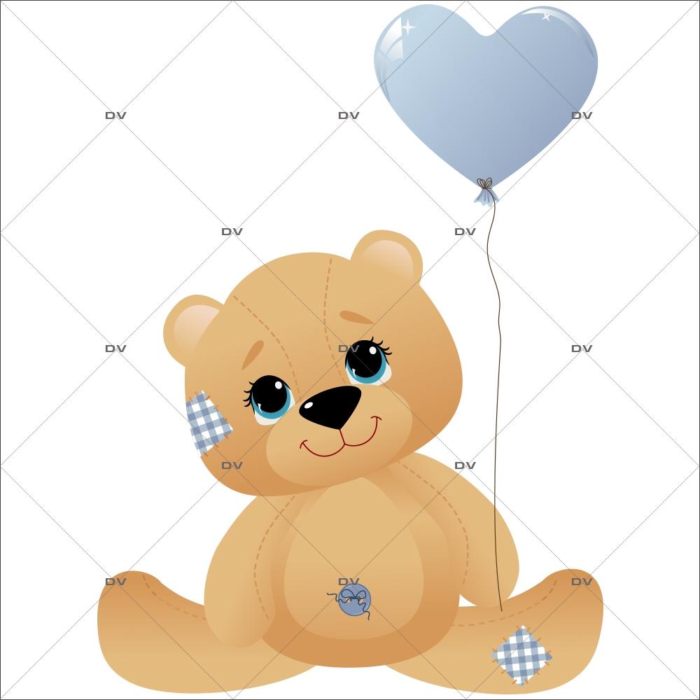 Sticker mural enfant bébé Ourson bébé Ourson