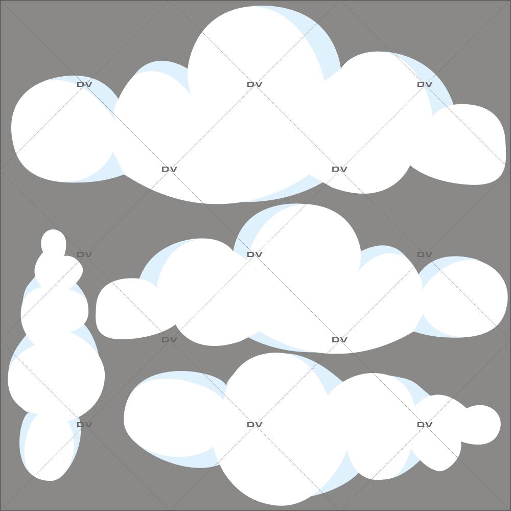 Stickers-4-nuages-bleus-blancs-chambre-bébé-enfant-garçon-fille-adhésif-encres-écologiques-latex-décoration-intérieure-DECO-VITRES