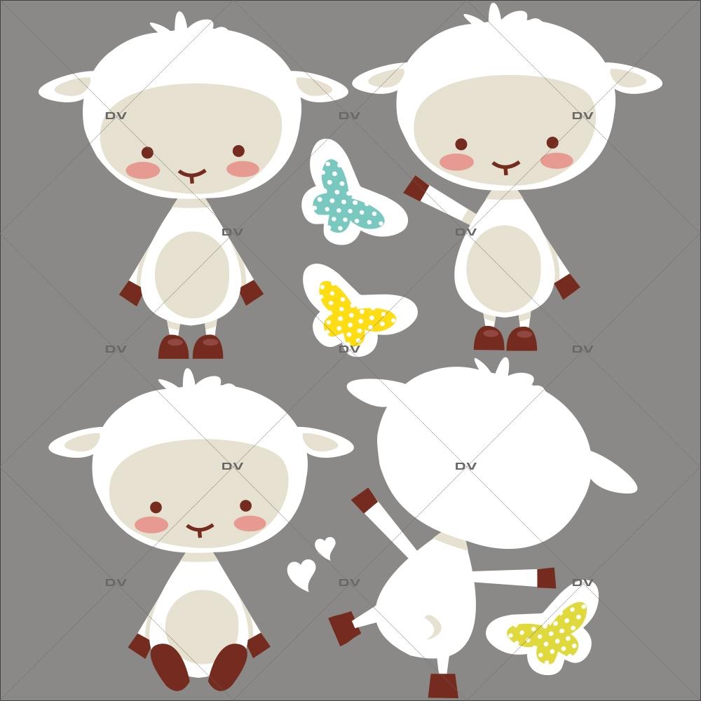sticker-mural-enfant-chambre-bebe-agneaux-papillons-DECO-VITRES-DS98