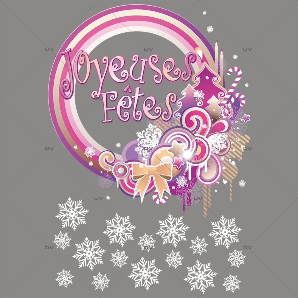 Sticker-texte-joyeuses-fêtes-vitrophanie-décoration-vitrine-noël-électrostatique-sans-colle-repositionnable-réutilisable-DECO-VITRES