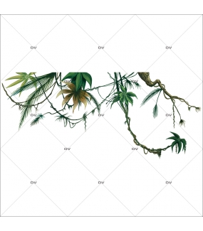 Sticker-lianes-plante-exotique-tropical-adhésif-encres-écologiques-latex-décoration-intérieure-DECO-VITRES