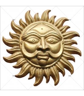 Sticker-soleil-indien-asiatique-ambiance-Inde-zen-adhésif-encres-écologiques-latex-décoration-intérieure-DECO-VITRES