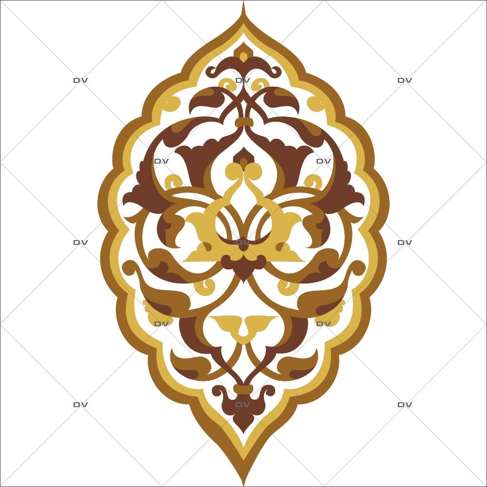 Sticker-motif-ambiance-décoration-orientale-marron-adhésif-encres-écologiques-latex-décoration-intérieure-DECO-VITRES