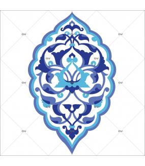 Sticker-motif-ambiance-décoration-orientale-bleu-adhésif-encres-écologiques-latex-décoration-intérieure-DECO-VITRES
