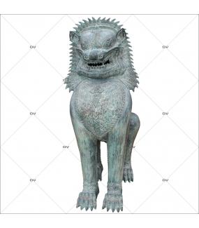 Sticker-lion-thaï-thaïlande-asiatique-ambiance-zen-adhésif-encres-écologiques-latex-décoration-intérieure-DECO-VITRES