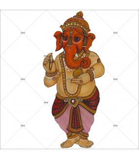 Sticker-ganesha-asiatique-ambiance-zen-Inde-divinité-éléphant-adhésif-encres-écologiques-latex-décoration-intérieure-DECO-VITRES