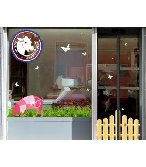 Sticker-barrière-printemps-été-vitrophanie-décoration-vitrine-estivale-printanière-électrostatique-sans-colle-repositionnable-réutilisable-DECO-VITRES