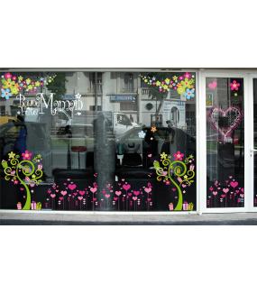 Sticker-angles-de-fleurs-multicolores-printemps-été-vitrophanie-décoration-vitrine-estivale-printanière-électrostatique-sans-colle-repositionnable-réutilisable-DECO-VITRES
