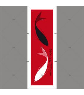 Sticker-carpes-koi-asiatique-ambiance-zen-adhésif-encres-écologiques-latex-décoration-intérieure-DECO-VITRES