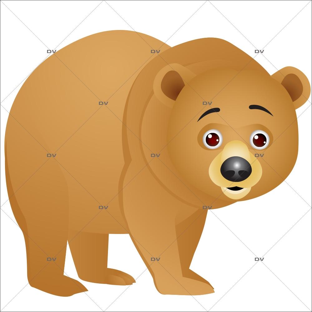 Sticker-animaux-de-la-forêt-ours-chambre-enfant-bébé-mural-adhésif-encres-écologiques-latex-décoration-intérieure-DECO-VITRES