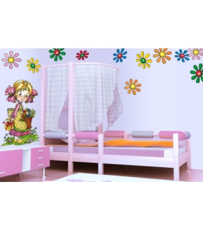 Sticker-petite-fille-modèle-panier-de-fleurs-chambre-enfant-bébé-mural-adhésif-encres-écologiques-latex-décoration-intérieure-DECO-VITRES