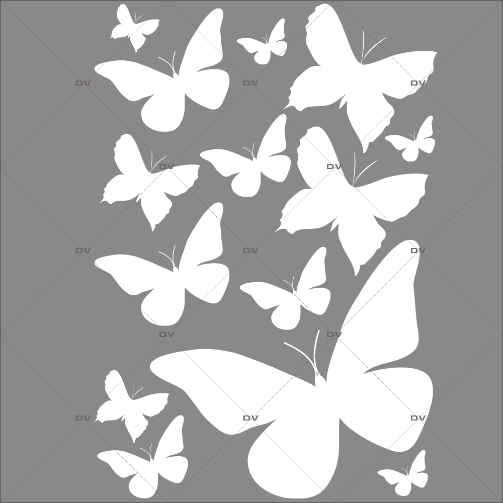 Sticker-papillons-blancs-insectes-printemps-animaux-été-vitrophanie-décoration-vitrine-printanière-estivale-électrostatique-sans-colle-repositionnable-réutilisable-DECO-VITRES