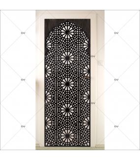 Sticker-porte-moucharabieh-ambiance-orientale-fond-dégradé-adhésif-encres-écologiques-latex-décoration-intérieure-DECO-VITRES