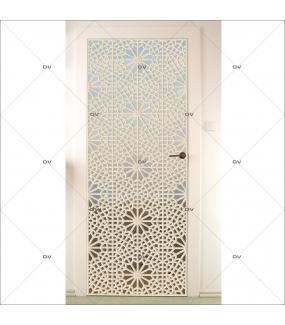 Sticker-porte-moucharabieh-ambiance-orientale-fond-désert-adhésif-encres-écologiques-latex-décoration-intérieure-DECO-VITRES