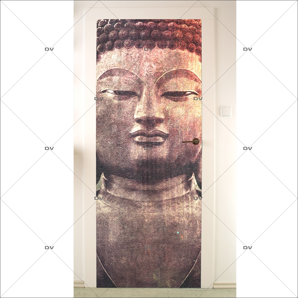 Sticker-porte-bouddha-asiatique-ambiance-zen-adhésif-encres-écologiques-latex-décoration-intérieure-DECO-VITRES