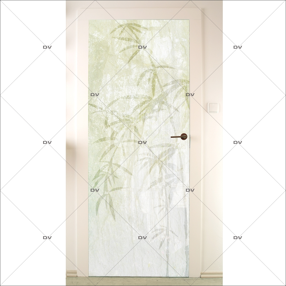Sticker-porte-bambous-asiatique-ambiance-zen-adhésif-encres-écologiques-latex-décoration-intérieure-DECO-VITRES