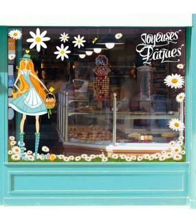 Sticker-angles-de-pâquerettes-fleurs-printemps-été-vitrophanie-décoration-vitrine-estivale-printanière-pâques-électrostatique-sans-colle-repositionnable-réutilisable-DECO-VITRES