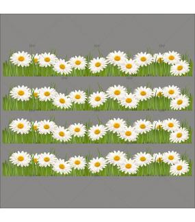 Sticker-frises-de-pâquerettes-fleurs-printemps-été-vitrophanie-décoration-vitrine-estivale-printanière-pâques-électrostatique-sans-colle-repositionnable-réutilisable-DECO-VITRES