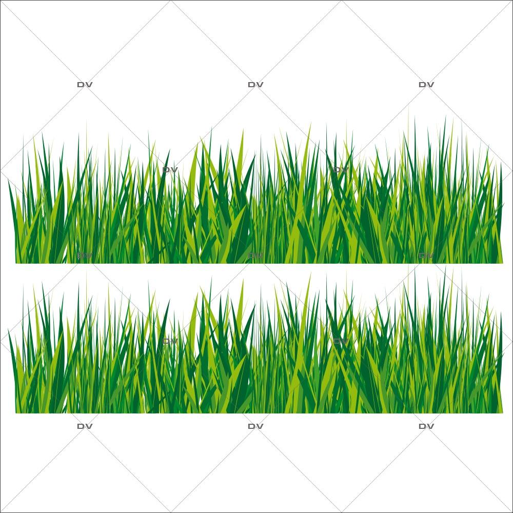 Sticker-frises-herbes-printemps-été-vitrophanie-décoration-vitrine-estivale-printanière-électrostatique-sans-colle-repositionnable-réutilisable-DECO-VITRES