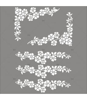 Sticker-angles-et-frises-de-fleurs-blanches-printemps-été-vitrophanie-décoration-vitrine-estivale-printanière-électrostatique-sans-colle-repositionnable-réutilisable-DECO-VITRES