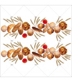 Sticker-frises-viennoiseries-pâtisseries-françaises-France-qualité-croissant-pain-chocolat-chocolatine-pain-raisins-brioche-vitrophanie-décoration-vitrine-boulangerie-pâtisserie-salon-de-thé-électrostatique-sans-colle-repositionnable-réutilisable-DECO-VITRES