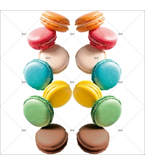Sticker-frises-de-macarons-vitrophanie-décoration-vitrine-spécial-boulangerie-pâtisserie-salon-de-thé-électrostatique-sans-colle-repositionnable-réutilisable-DECO-VITRES