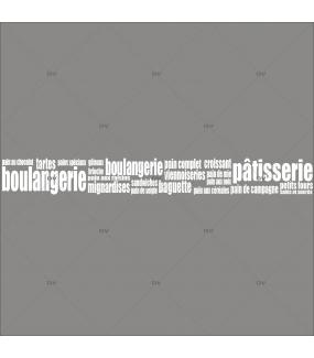 Sticker-frise-textes-blancs-vitrophanie-décoration-vitrine-spécial-boulangerie-pâtisserie-électrostatique-sans-colle-repositionnable-réutilisable-DECO-VITRES