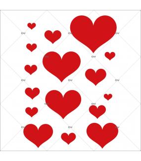 Sticker-coeurs-rouges-vitrophanie-décoration-vitrine-fêtes-grands-mères-pères-st-valentin-soldes-noël-pâques-électrostatique-sans-colle-repositionnable-réutilisable-DECO-VITRES