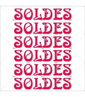 Sticker-soldes-textes-rouges-vitrophanie-décoration-vitrine-promotionnelle-électrostatique-sans-colle-repositionnable-réutilisable-DECO-VITRES