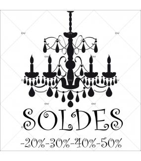 Sticker-soldes-pourcentages-lustre-retro-textes-noirs-vitrophanie-décoration-vitrine-promotionnelle-électrostatique-sans-colle-repositionnable-réutilisable-DECO-VITRES
