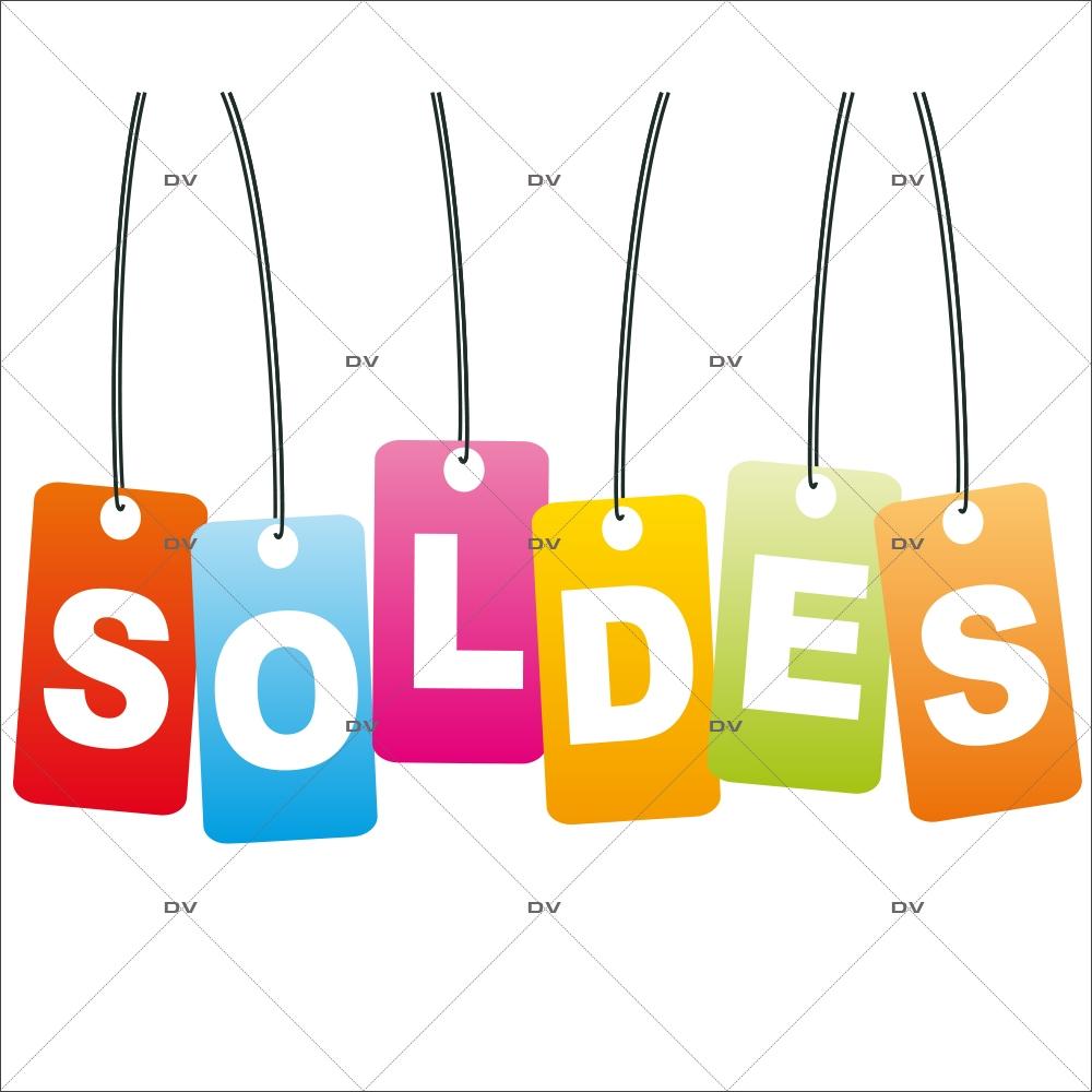 Sticker-frise-étiquettes-soldes-multicolores-vitrophanie-décoration-vitrine-promotionnelle-électrostatique-sans-colle-repositionnable-réutilisable-DECO-VITRES