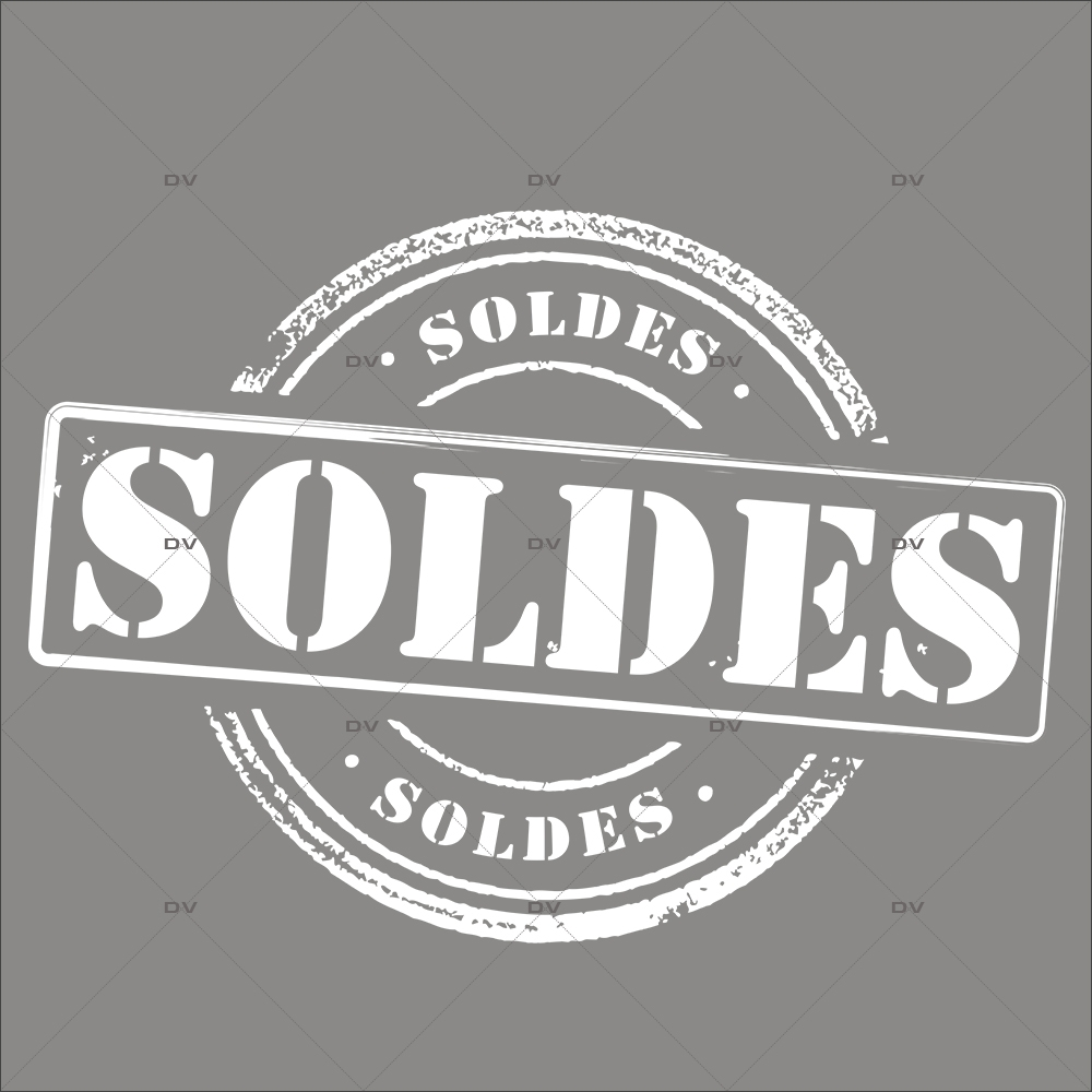 Sticker-label-soldes-rond-moderne-grunge-blanc-vitrophanie-décoration-vitrine-promotionnelle-électrostatique-sans-colle-repositionnable-réutilisable-DECO-VITRES