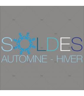 Sticker-soldes-flocon-cristaux-automne-hiver-vitrophanie-décoration-vitrine-promotionnelle-électrostatique-sans-colle-repositionnable-réutilisable-DECO-VITRES
