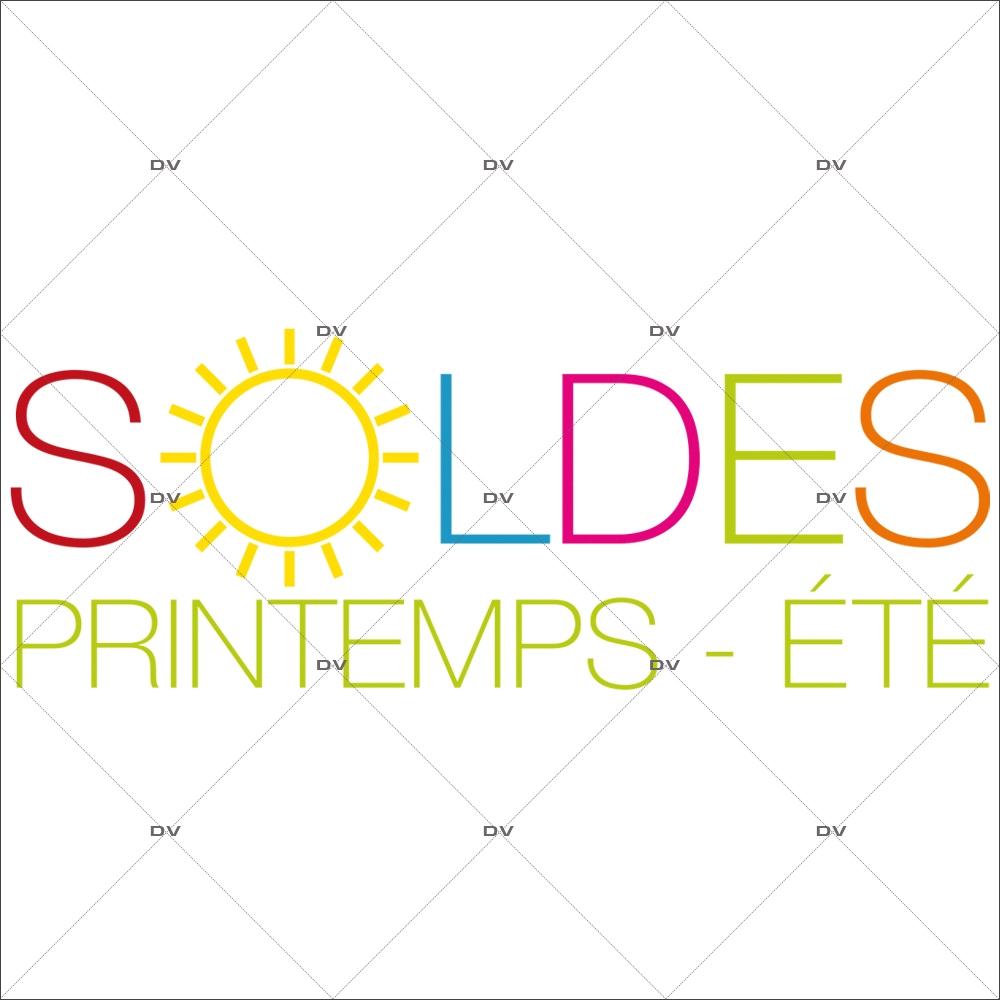 Sticker-soldes-soleil-printemps-été-vitrophanie-décoration-vitrine-promotionnelle-électrostatique-sans-colle-repositionnable-réutilisable-DECO-VITRES