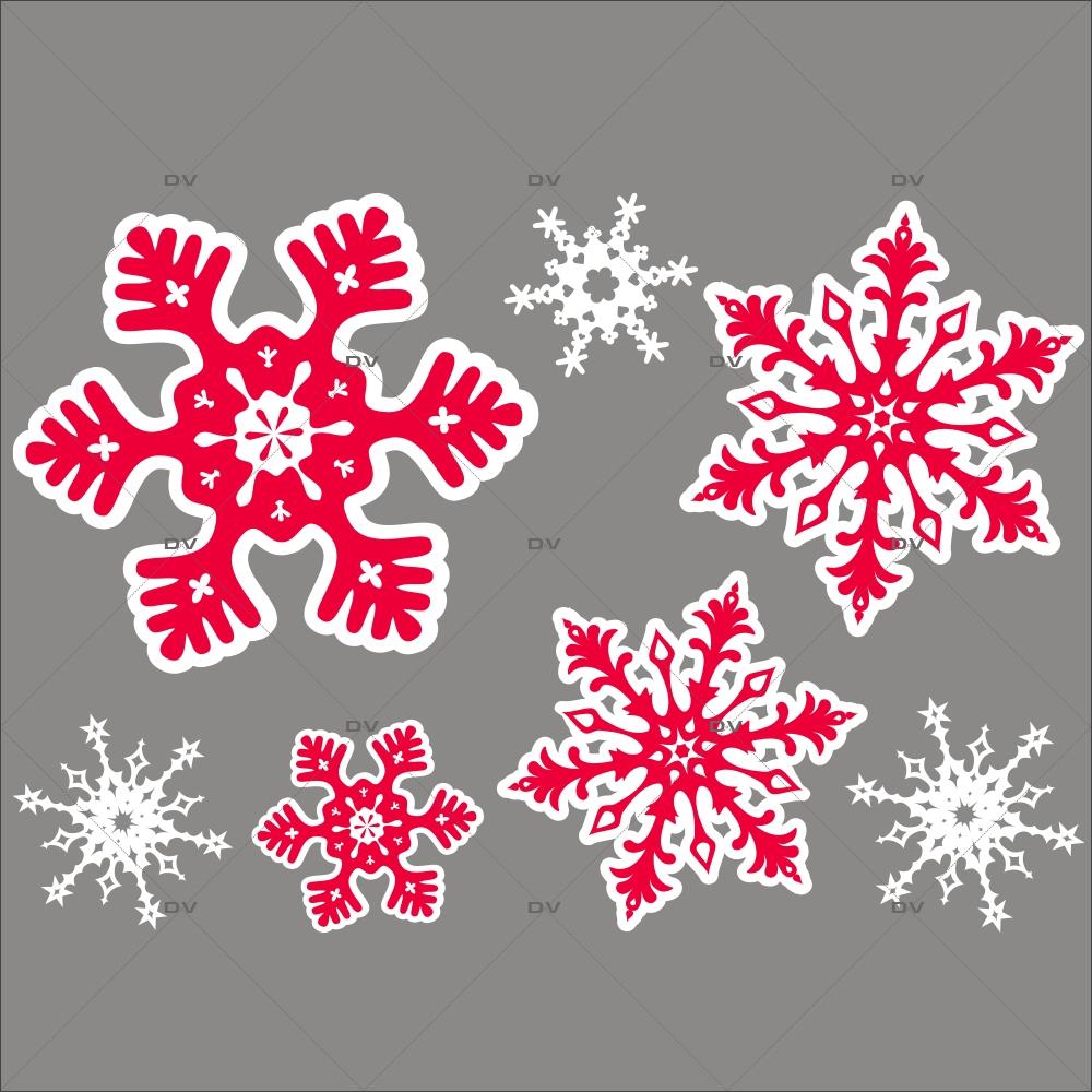 Sticker-cristaux-géants-rouges-blancs-vitrophanie-décoration-vitrine-noël-électrostatique-sans-colle-repositionnable-réutilisable-DECO-VITRES