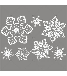 Sticker-cristaux-de-neige-géants-flocons-blancs-vitrophanie-décoration-vitrine-noël-électrostatique-sans-colle-repositionnable-réutilisable-DECO-VITRES