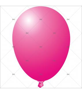Sticker-ballon-fuchsia-anniversaire-fête-carnaval-vitrophanie-décoration-vitrine-promotionnelle-électrostatique-sans-colle-repositionnable-réutilisable-DECO-VITRES