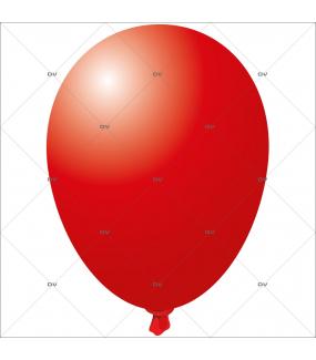 Sticker-ballon-rouge-anniversaire-fête-carnaval-vitrophanie-décoration-vitrine-promotionnelle-électrostatique-sans-colle-repositionnable-réutilisable-DECO-VITRES