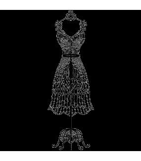 Sticker-mannequin-retro-chambre-bébé-enfant-fille-adhésif-teinté-dans-la-masse-26-couleurs-au-choix-découpé-mural-ou-vitres-décoration-intérieure-DECO-VITRES