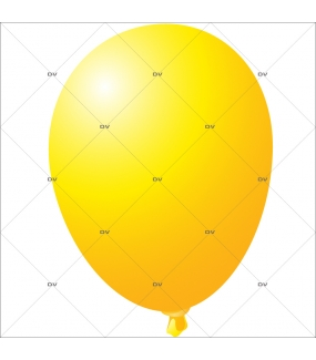 Sticker-ballon-jaune-anniversaire-fête-carnaval-vitrophanie-décoration-vitrine-promotionnelle-électrostatique-sans-colle-repositionnable-réutilisable-DECO-VITRES