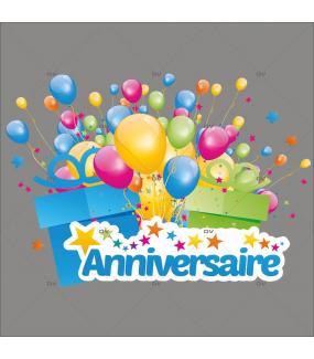 Sticker-Anniversaire-ballons-et-cadeaux-vitrophanie-décoration-vitrine-électrostatique-sans-colle-repositionnable-réutilisable-DECO-VITRES