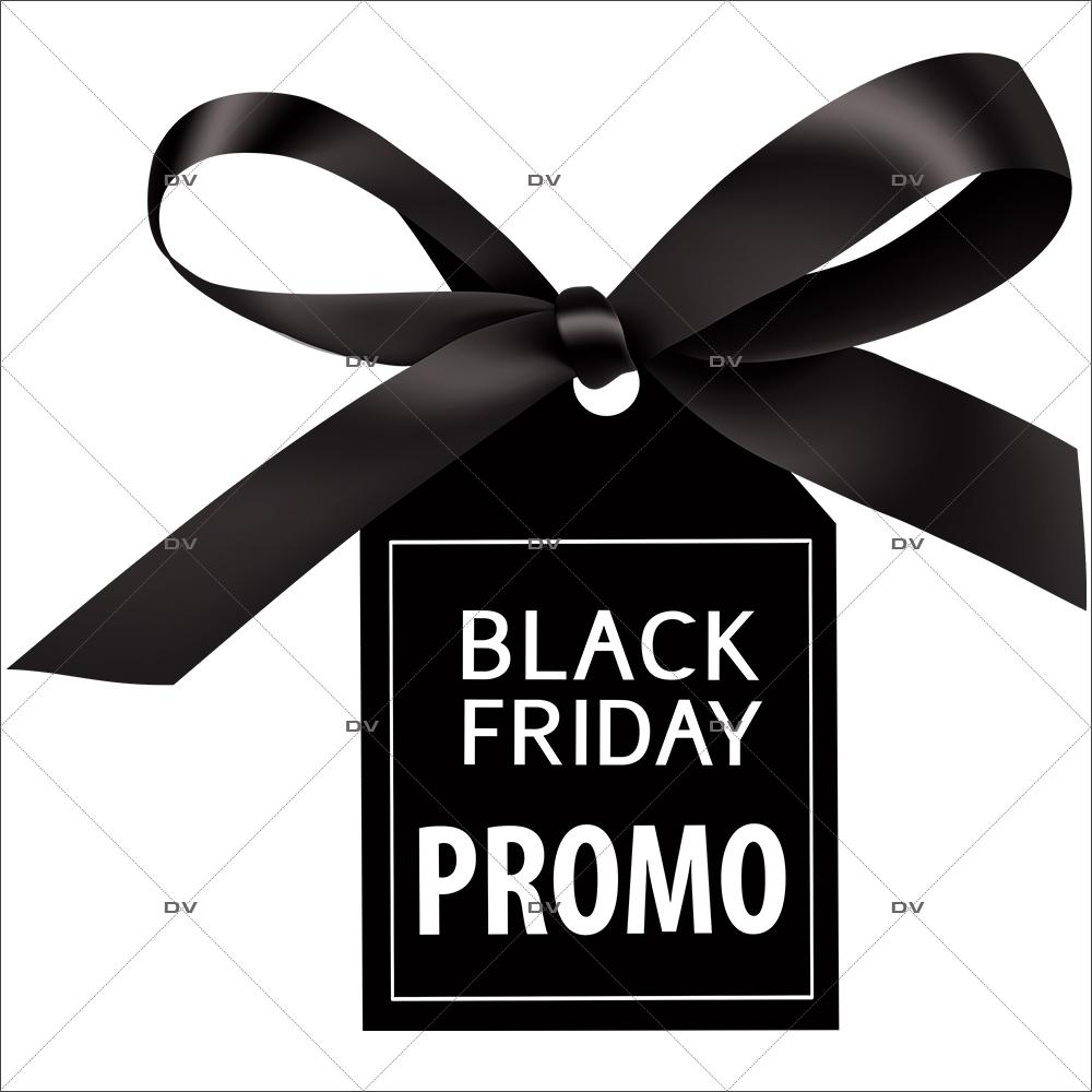 Sticker-étiquette-Black-Friday-promotion-vitrophanie-décoration-vitrine-électrostatique-sans-colle-repositionnable-réutilisable-DECO-VITRES