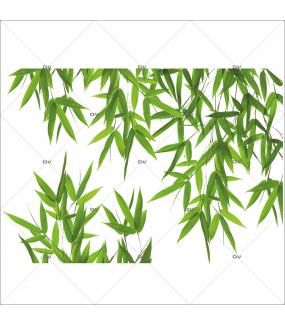 Sticker-angle-feuilles-de-bambou-plantes-et-feuillages-exotiques-paysage-forêt-tropicale-été-vitrophanie-décoration-vitrine-estivale-électrostatique-sans-colle-repositionnable-réutilisable-DECO-VITRES