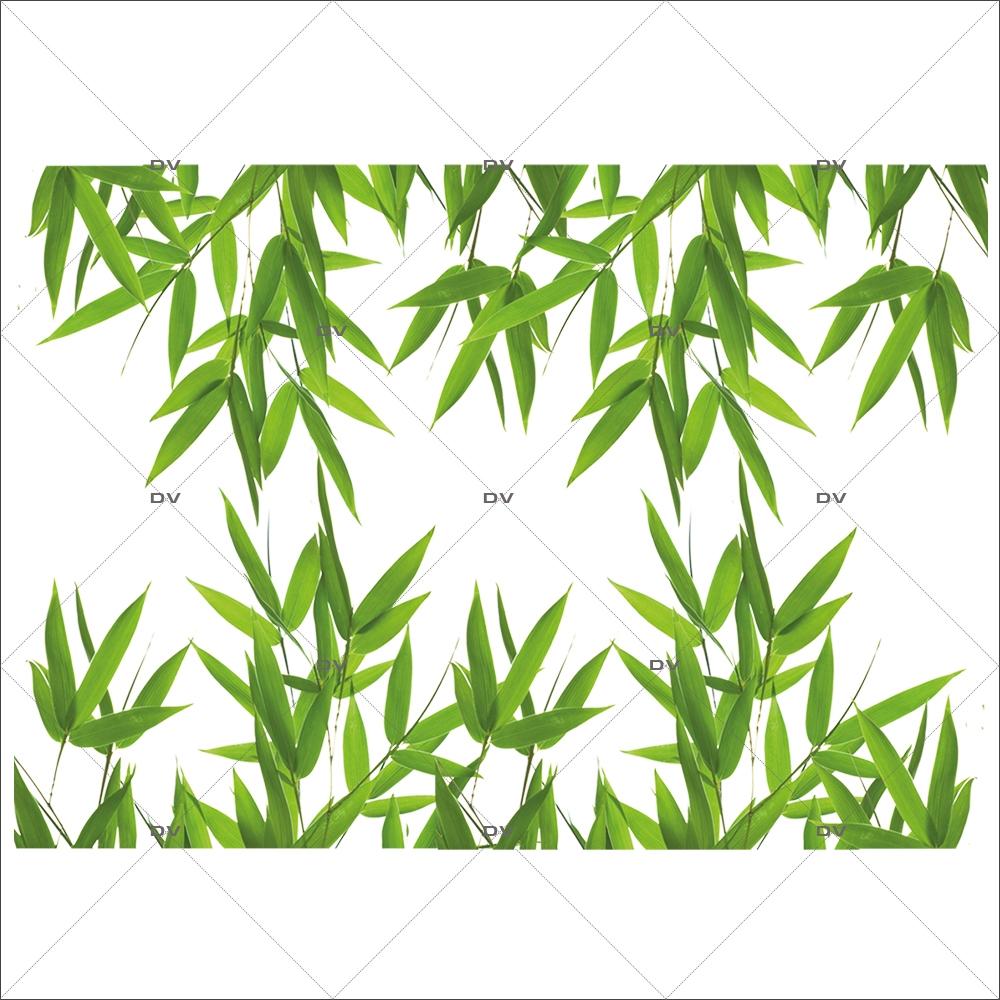 Sticker-frises-feuilles-de-bambou-plantes-et-feuillages-exotiques-paysage-forêt-tropicale-été-vitrophanie-décoration-vitrine-estivale-électrostatique-sans-colle-repositionnable-réutilisable-DECO-VITRES