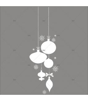 Sticker-frise-suspensions-boules-de-noël-blanc-thème-moderne-graphique-vitrophanie-décoration-vitrine-noël-électrostatique-sans-colle-repositionnable-réutilisable-DECO-VITRES