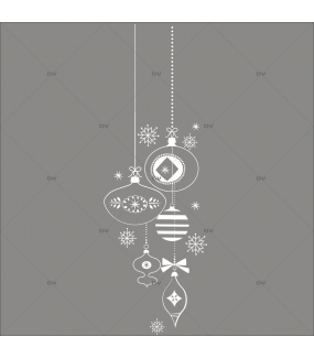 Sticker-frise-suspensions-boules-de-noël-blanc-évidé-thème-girly-vitrophanie-décoration-vitrine-noël-électrostatique-sans-colle-repositionnable-réutilisable-DECO-VITRES