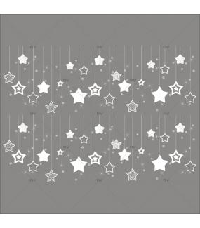Sticker-frises-étoiles-suspendues-blanc-vitrophanie-décoration-vitrine-noël-électrostatique-sans-colle-repositionnable-réutilisable-DECO-VITRES