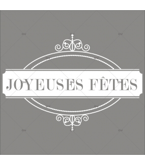 jf18 sticker m daillon joyeuses f tes deco vitres electrostatique. Black Bedroom Furniture Sets. Home Design Ideas