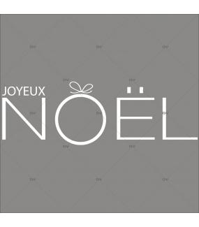 Sticker-texte-joyeux-noël-graphique-moderne-blanc-vitrophanie-décoration-vitrine-noël-opticien-électrostatique-sans-colle-repositionnable-réutilisable-DECO-VITRES