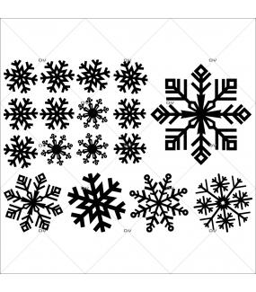 Sticker-gros-cristaux-noirs-thème-moderne-graphique-vitrophanie-décoration-vitrine-noël-électrostatique-sans-colle-repositionnable-réutilisable-DECO-VITRES